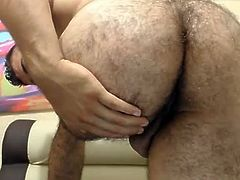 Muscle Colombian Boy Cums On Cam,Super Hot Hairy Bubble Ass
