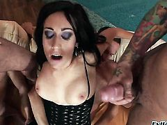 Ian Scott inserts his love wand in warm Chokys mouth before she gets fucked in her back porch