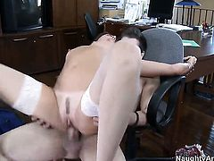 Xander Corvus cant resist flirty Michelle Lays acttraction and fucks her like theres no tomorrow