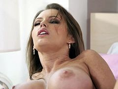 This lovely hot ass chick likes to take a huge cock in her mouth for a suck in a good blowjob and gets fucked hardcore in orgasm.
