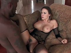 Chanel Preston interracial sex with BBC
