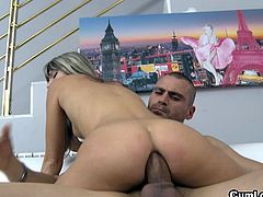 Gina Gerson is a silly blonde teen from Europe. She has tiny tits, but her willingness to get fucked in the ass compensates for that. She gets her ass rammed.