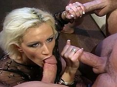 Extreme hardcore Sex-with double penetration and with 3 vs one slut in this free sex tube.