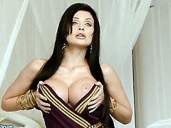 Aletta Ocean with huge jugs does her best to give herself the greatest orgasm ever