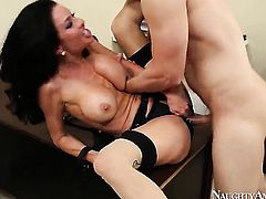Danny Wylde gets seduced into fucking by Asian Veronica Avluv with tiny butt and smooth beaver