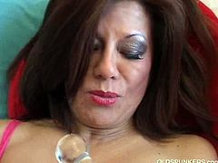 Melina strips naked and plays old pussy. Spicy amateur latina MILF loves to get her soaking wet pussy played with her favorite toys. There is nothing more amusing than her lewd ways today.