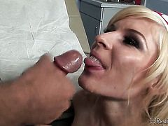 Crista Moore attacked by hard man meat of Sergio