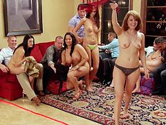 When these kinky couples get together in the mansion, anything can happen. They play funny and sexy games, before heading to the sex room, where there is plenty of hardcore fucking and oral sex, going on tonight.