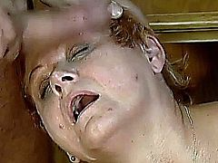 my sexy redhead mom loves hard sex and massive cum on her old face