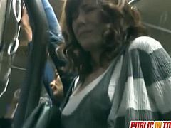 Public Sex Japan brings you a hell of a free porn video where you can see how the Japanese brunette slut Yuma Asami sucks hard cocks on the bus while assuming hot poses.