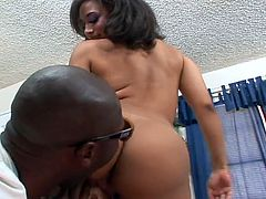 Thicka than a snicka 08- O My God !!Two big big black dicks and she drilled by this and also face fucked hard in this tube.