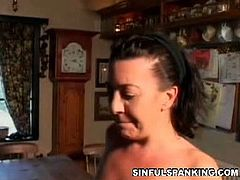Sinful Spanking brings you a hell of a free porn video where you can see how this lovely brunette gets her sweet ass spanked while assuming very naughty poses.