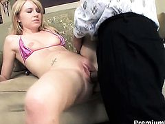 Kelly Klass fucks the jizz out of dudes meat pole