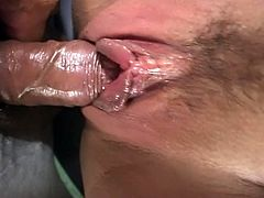 Hot cock and ready to rock there is goth fuck threesome as chick wit big butt gets fucked