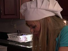 Wicked Pictures brings you a hell of a free porn video where you can see how the gorgeous blonde teen Nicole Ray gets banged in the kitchen while assuming very naughty poses.