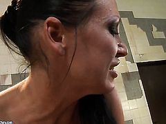 Brunette Ann Marie La Sante cant stop licking Mandy Brights wet hole in girl-on-girl action