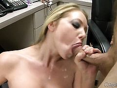 Ava Rose loves Kevin Jamess sausage in cock sucking action