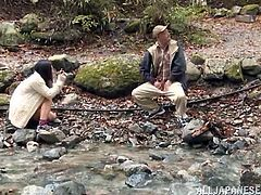 The brunette Japanese in the video, adores posing in indecent sexy position for her horny lover. After the photo session in the woods, the couple retreats in the tent. The sexy slut enjoys sucking her partner's cock, while outdoor. The images are an eloquent proof. Don't miss the kinky details!