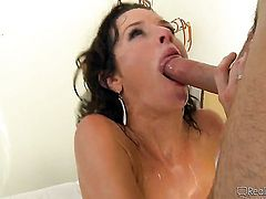 Alexandra Silk takes Michael Vegass cum loaded rod in her twat