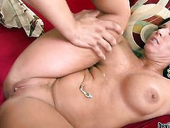 Kendra Secrets is never enough and takes guys erect worm in her mouth again