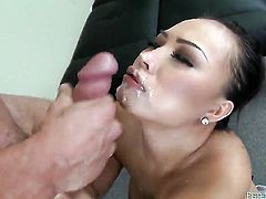 Gia Grace is a blowjob addict that loves guys sturdy meat stick