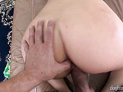 Horny as hell vixen Ashlynn Leigh gets the mouth fuck of her dreams with hard cocked guy Mr. Pete