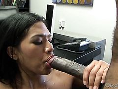 Kita Zen is in the mood for fucking and spreads for hard cocked dude Chad Alva