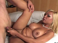 This hot tranny have a hard cock to play with and nailed a hot stuck in the ass anal hardcore doggystyle in a hot orgasm.