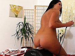Christina Jolie touches her soaking wet snatch in solo scene