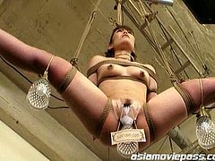 These Asian sluts are held in bondage as they are used to furnish a house of perverted fantasies in this extreme movie.