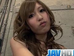 Meri Kanami is a lovely Japanese girl who plays kinky games with bonds and gags. However, there is nothing extreme. Her hairy cunt gets slammed and creampied.