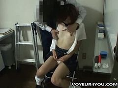 Asian brunette slut gets her cunt blasted hard
