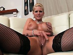 Phoenix Marie with massive boobs and clean muff gets fucked in the butthole to orgasm