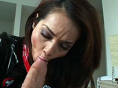 Asian cutie Daisy Marie enjoys a hard fuck and a sticky facial