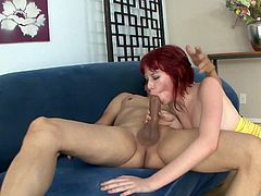 Redhead milf Zoey Nixon feels happy to ride this wang