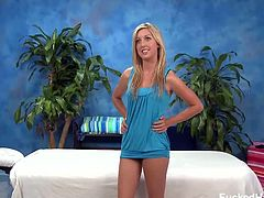 Fucked Hard 18 brings you a hell of a free porn video where you can see how the cute blonde Callie Cobra gets sensually massaged while assuming very hot poses.