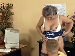 Kelly is training a young hunk in this guyr office. but it seEms like that hunk is More interested inside this guyr tits and Starts squeezing and pinching her already erect nips. that Babe doesn't Mind as long as this babe has to perform some oral-job exaMination and have him drill her hard.