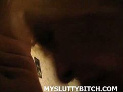 Amateur blonde girlfriend filmed in POV riding her boyfriend's cock and then she finishes him off as he fucks her in the mouth in this amateur video.