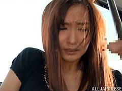 Imagine a lone Japanese woman travelling on her own in the public transport. She looks so good, the men around her can easily be turned on just by looking at her. The bitch in the video is approached by a horny guy and finally persuaded into sucking his cock. Click to see slutty Nono performing oral sex!