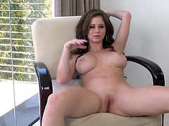 This scene features Emily Addison masturbating her wet pussy hardcore. She strokes it rough and hard with her toys hardcore in orgasm.