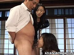 Tied up Asian hottie gets banged very hard