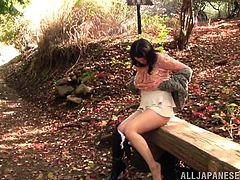 This kinky couple are out in the forest for a walk, when they decide to get naughty and nude on the ground covered in leaves. They fondle each other's genitals, because they are so horny and the lovely lady gives a nice blowjob.