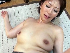 Japanese milf Chisato Shouda works on a cock and enjoys it doggystyle