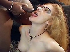 See this grannny babe as she fucks big black dicks with her mouth in some tube movie video.
