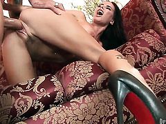 Brandy Aniston gets her throat fucked to death by hot man
