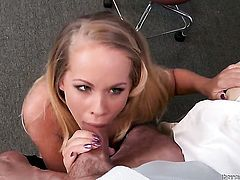 Peter North stuffs his ram rod in flirty Britney Youngs mouth