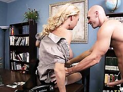 Johnny Sins has unforgettable oral sex with Blake Rose before back porch fucking