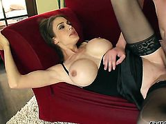Mckenzie Lee finds her cunt dripping wet after giving blowjob to Dane Cross before anal fun