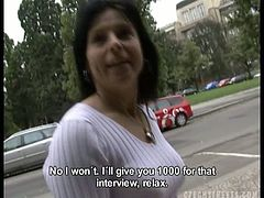 These are real Czech streets! Czech girls are ready to do absolutely anything for money. Lenka eagerly gives a blowjob and a titjob for her money. Authentic amateurs on the street!