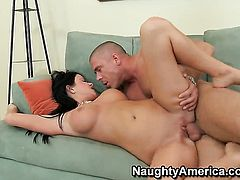 Loni Evans with big breasts and bald twat feels like she is Mick Blues fuck toy